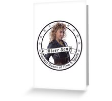 River Song logo Greeting Card