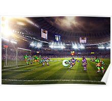 Soccer Brawl pixel art Poster