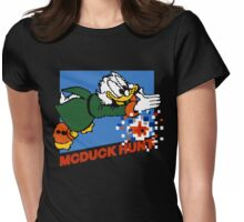 Scrooge McDuck Hunt Womens Fitted T-Shirt