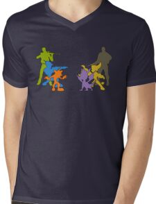 Clash of Heroes Mens V-Neck T-Shirt