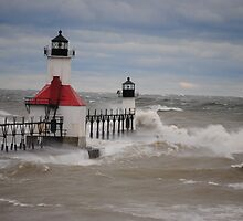St Joseph North Pier Lighthouse - 14 by Debbie Mueller