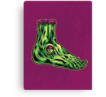 L is for Lucky Leprosy Leg Canvas Print