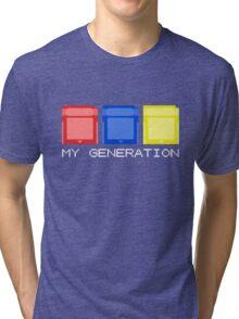 Red Blue Yellow Generation Tri-blend T-Shirt