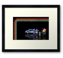 E-Swat - Cyber Police pixel art Framed Print