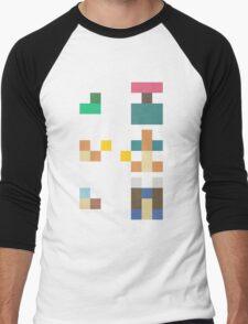 Pokemon Starters - Original Three (Minimalist) Men's Baseball ¾ T-Shirt