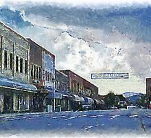 Street Banner in Historic Downtown Franklin, NC by Jean Gregory  Evans