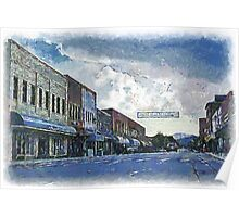 Street Banner in Historic Downtown Franklin, NC Poster