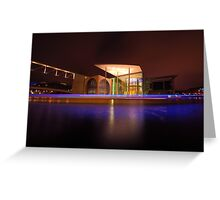 Berlin, blue halo over spree river Greeting Card