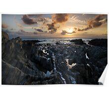 Jurassic Coast Sunset - Woolacombe Bay North Devon Poster