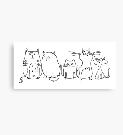 Cute and Funny Crazy Cat Lady Canvas Print