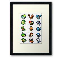 Pixel Starters Poster Framed Print