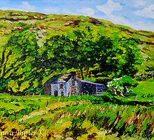 Deserted Farm, High in the Glen, Glendun, County Antrim. by Laura Butler