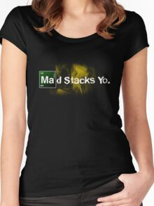 Breaking Bad  - Mad Stacks Yo Women's Fitted Scoop T-Shirt