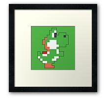 Super Mario Maker - Yoshi Costume Sprite Framed Print