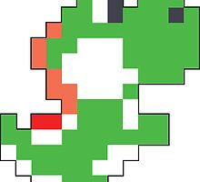 Super Mario Maker - Yoshi Costume Sprite by NiGHTSflyer129