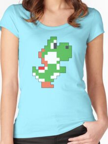 Super Mario Maker - Yoshi Costume Sprite Women's Fitted Scoop T-Shirt