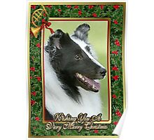 Shetland Sheepdog Christmas Poster