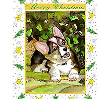 Welsh Corgi Cardigan Dog Christmas by Oldetimemercan
