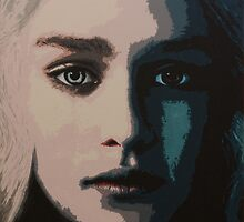 Acrylic Painting of Daenerys Targaryen by Matthew Duckworth
