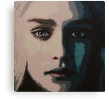 Acrylic Painting of Daenerys Targaryen Canvas Print