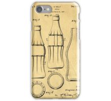 Coca Cola Bottle Patent Art 1937 Blueprint Drawing iPhone Case/Skin