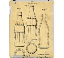 Coca Cola Bottle Patent Art 1937 Blueprint Drawing iPad Case/Skin