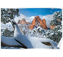 Garden Of The Gods After A Snow Poster