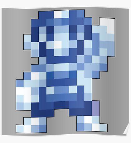 Super Mario Maker - Silver Mario Costume Sprite Poster