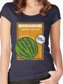 Nonomori Watermelons Women's Fitted Scoop T-Shirt