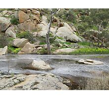Swirling eddies in the Creek, Mannum Gorge. S.A. Photographic Print