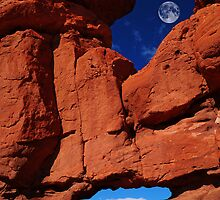 Siamese Twins Rock Formation At Garden Of The Gods by pilgrims492003