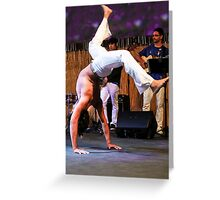 Capoeira On Stage Greeting Card