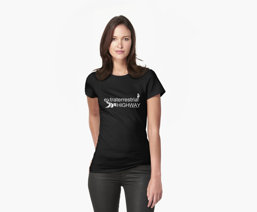 Extraterrestrial Highway (Light text for Dark T-Shirts) by luxenarmy