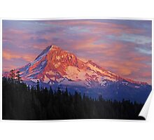 Mt Hood Sunset Poster