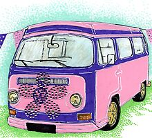 Pink and Purple Campervan by ACDesigns