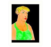 GREEN APPLE FAIRY  Art Print