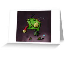 zombie gir Greeting Card