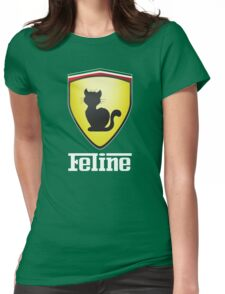 Feline Womens Fitted T-Shirt