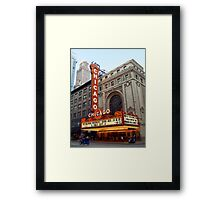 The Old Chicago Theatre Framed Print