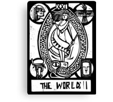 The World - Tarot Cards - Major Arcana Canvas Print