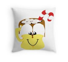 Happy Cup Throw Pillow