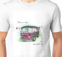 VW T2 Campervan Home is where you park it! Unisex T-Shirt