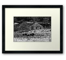 Abandoned House Woodsdale Tasmania Framed Print