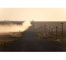A Dusty Road and Telephone Lines Photographic Print