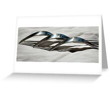 Silver Service Greeting Card