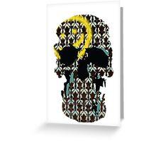 Sherlock's Skull and Wallpaper Greeting Card