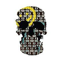 Sherlock's Skull and Wallpaper Photographic Print