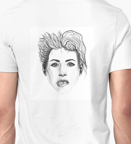 Girl Biting Her Lip Unisex T-Shirt