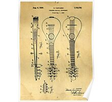 Stringed Musicial Instrument Patent Art Blueprint Drawing Poster