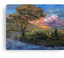 Duck Hunting on the Snake River Canvas Print